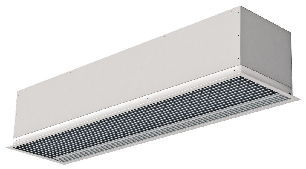 Recessed KOOL air curtain